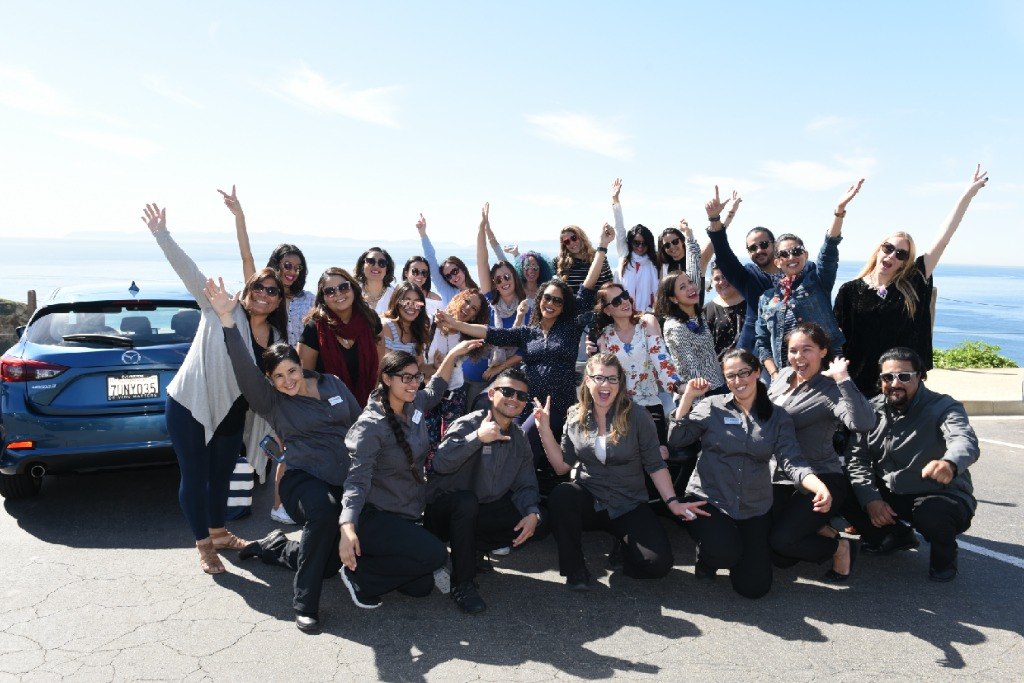 Group Photo for Mazda Field Trip at the #WeAllGrow Summit