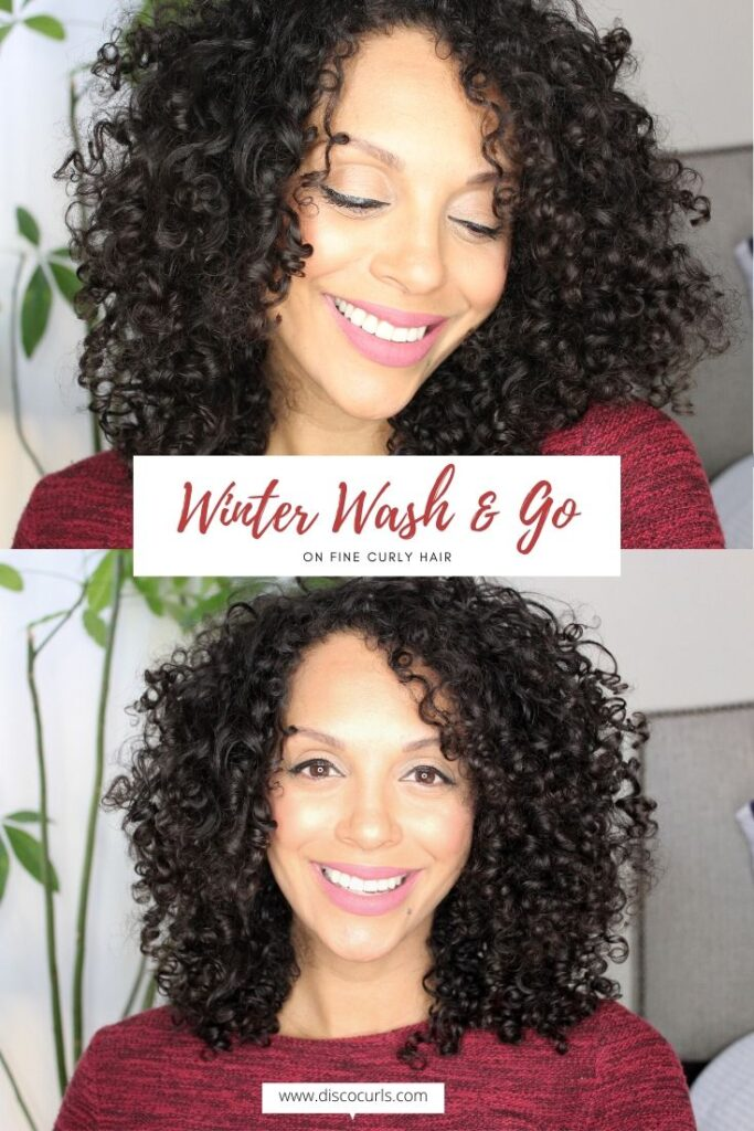 winter wash and go on fine curly hair