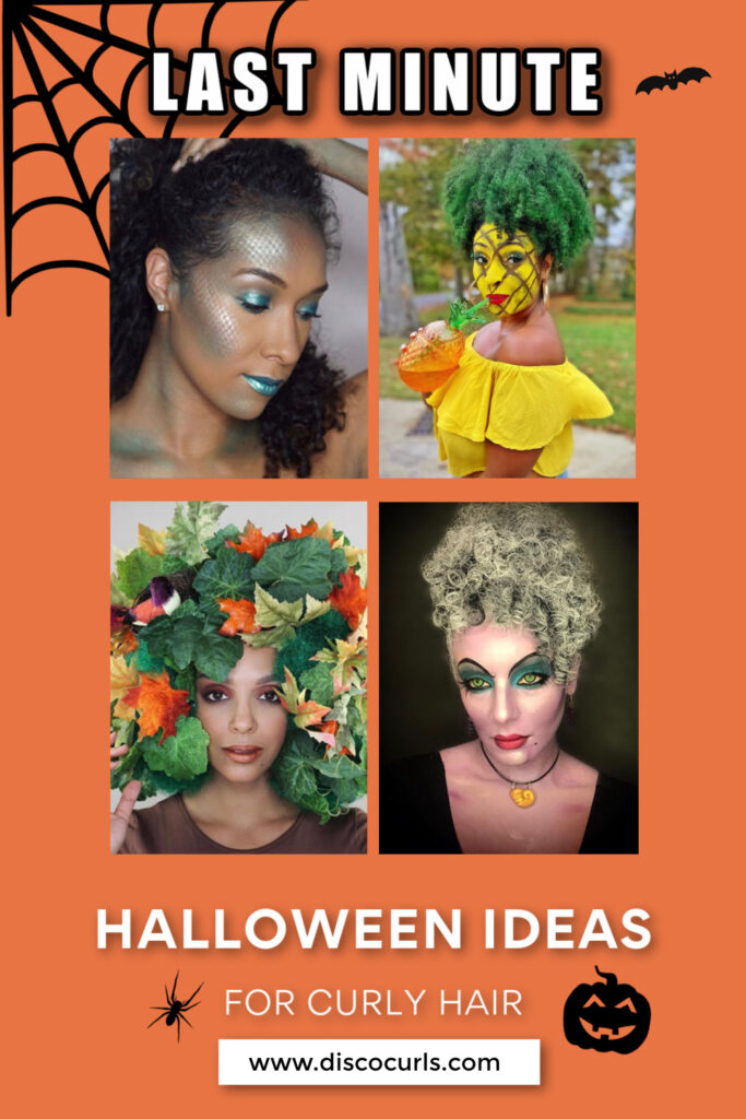 image of halloween ideas for curly hair