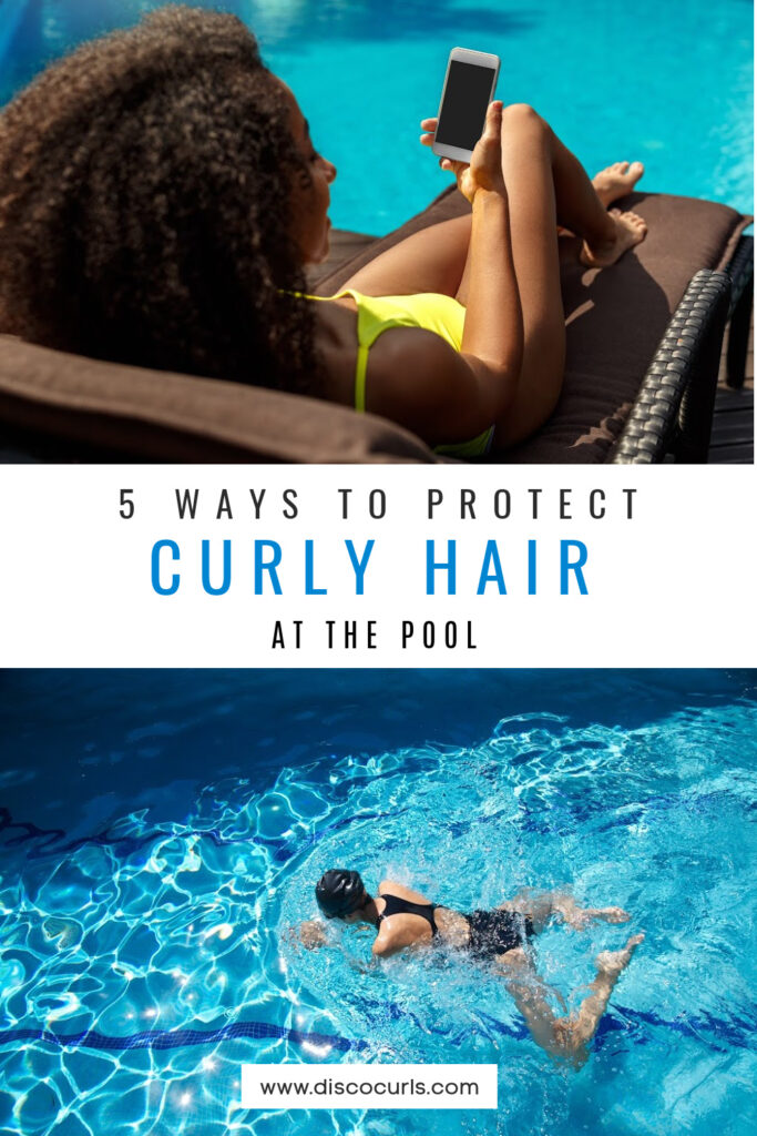 protect curly hair at the pool